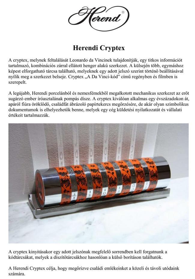 Herendi Crytex