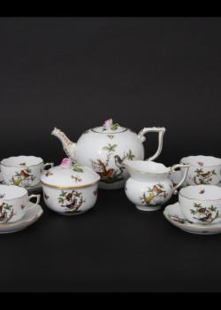 Rothschild mintájú 6 személyes teáskészlet